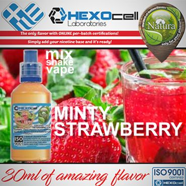 NATURA MIX SHAKE VAPE MINTY STRAWBERRY 30/60ML (μέντα και φράουλα)