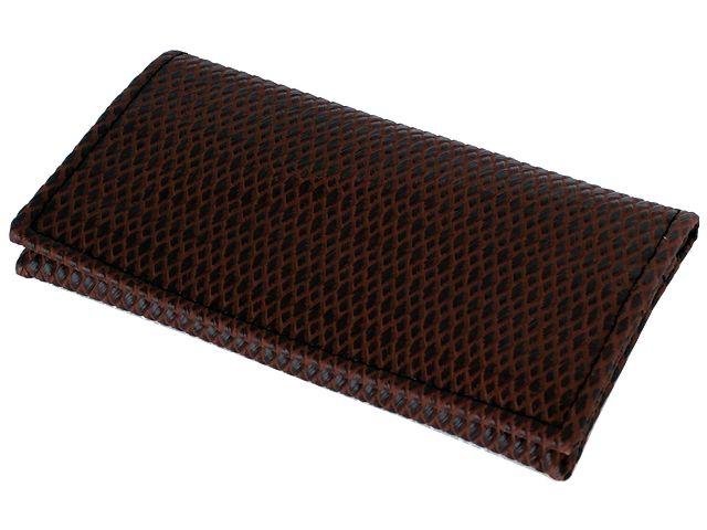 5755 - Καπνοθήκη SMOKA CARTO ΨΑΘΑ BROWN για καπνό χαρτάκια φιλτράκα και αναπτήρα