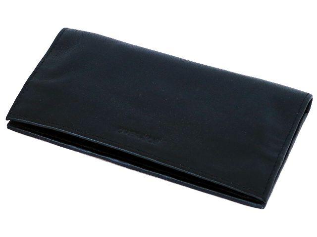 Καπνοθήκη από γνήσιο δέρμα Over Top 9979-Z BLACK (μεγάλη με τρία φερμουάρ)