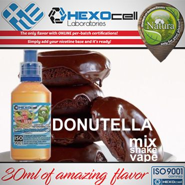 NATURA MIX SHAKE VAPE DONUTELLA 30/60ML (ντόνατς πραλίνα)