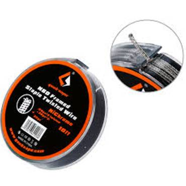 Σύρμα Geek Vape N80 Framed Staple Twisted Wire (26GAx2 Twisted + 26GAx2) + 32GA 3m