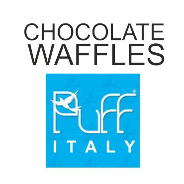 6166 - PUFF ITALY CHOCOLATE WAFFLES 40/50ML (σοκολατοβάφλα)