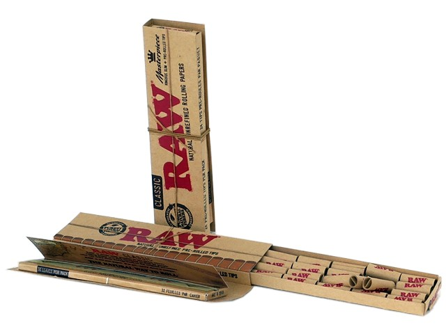 RAW MASTER PIECE Classic KING SIZE SLIM + PRE ROLLED TIPS