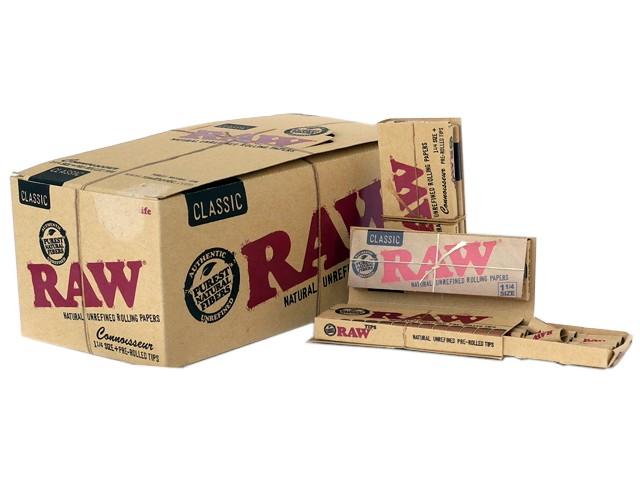 6192 - Κουτί με 24 RAW CONNOISSEUR Classic 1 1/4 SIZE + PRE ROLLED TIPS