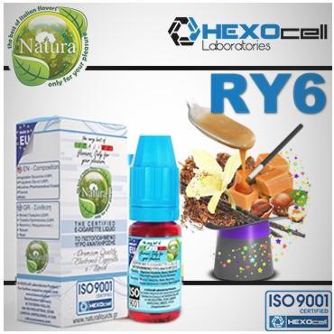 Υγρό αναπλήρωσης Natura RY6 TOBACCO από την Hexocell (καπνικό) 10 ml