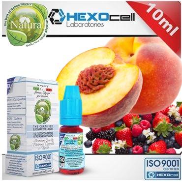 6374 - Υγρό αναπλήρωσης Natura FOREST PEACHEZ από την hexocell 10ml (ροδάκινο & φρούτα δάσους)