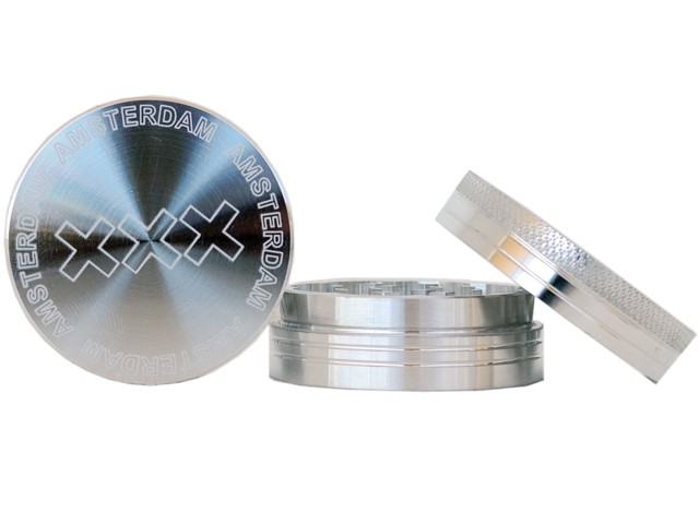 6436 - Τρίφτης καπνού AMSTERDAM XXX by CNC 50mm 04929 (αλουμίνιο)