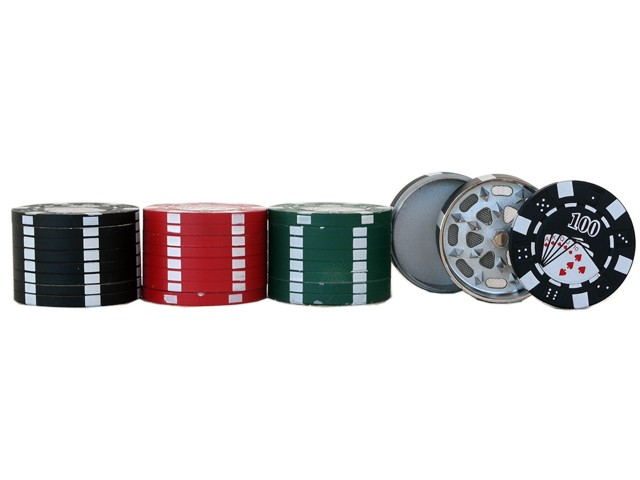 Τρίφτης καπνού POKER CHIP BUDDIES GRINDER 42mm 11595