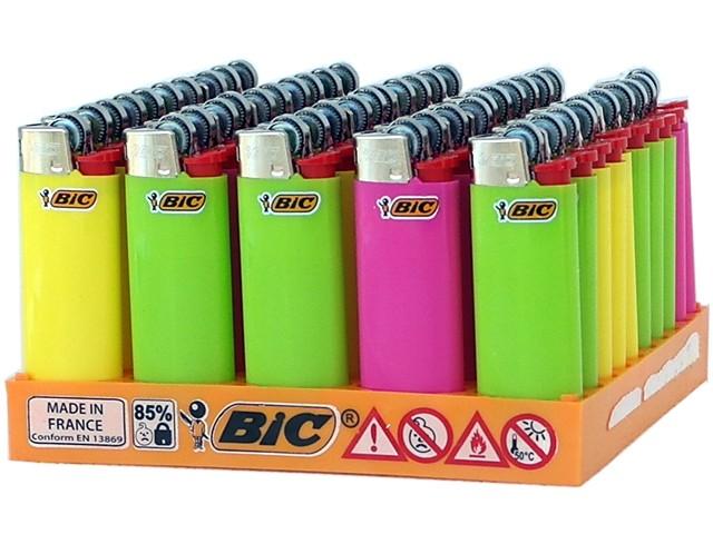 Κουτί με 50 αναπτήρες Bic Mini FLUO J25 slv