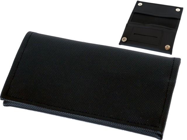 6504 - Καπνοθήκη SMOKA CARTO BLACK ΑΝΑΓΛΥΦΗ XX για καπνό χαρτάκια φιλτράκα και αναπτήρα
