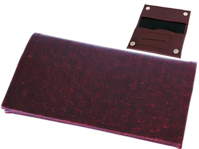 6508 - Καπνοθήκη SMOKA CARTO ΜΠΟΡΝΤΩ SPOT 732 για καπνό χαρτάκια φιλτράκα και αναπτήρα