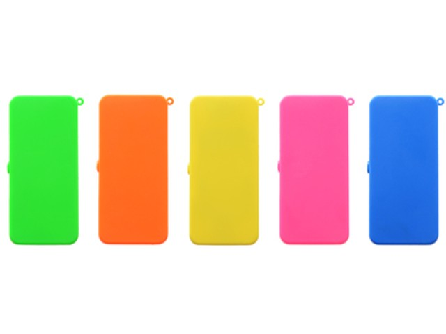 6518 - Atomic USB Lighter Square Neon Art-No:2125701 (πλαστικός)