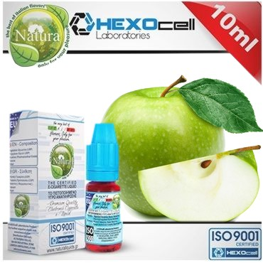 6582 - Natura GREEN APPLE από την Hexocell (πράσινο μήλο) 10 ml