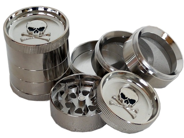 6691 - Τρίφτης καπνού BUDDY MT3 METAL GRINDER SKULL 52mm 11498 (5 parts)