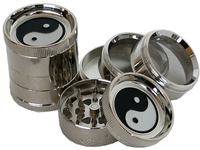 6693 - Τρίφτης καπνού BUDDY MT3 METAL GRINDER YING YANG 52mm 18885 (5 parts)