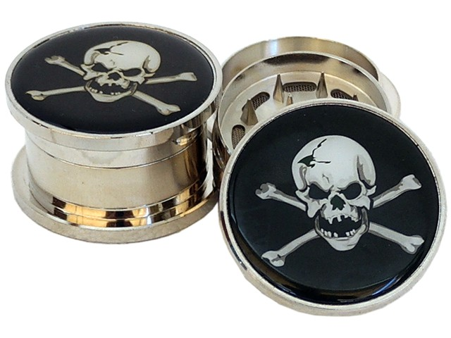 Τρίφτης καπνού BUDDY MT2 METAL GRINDER SKULL 52mm 18891 (3 parts)