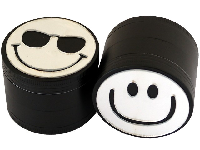 Τρίφτης καπνού ATOMIC Metal Grinder Smiley 4 parts 50mm 0212467