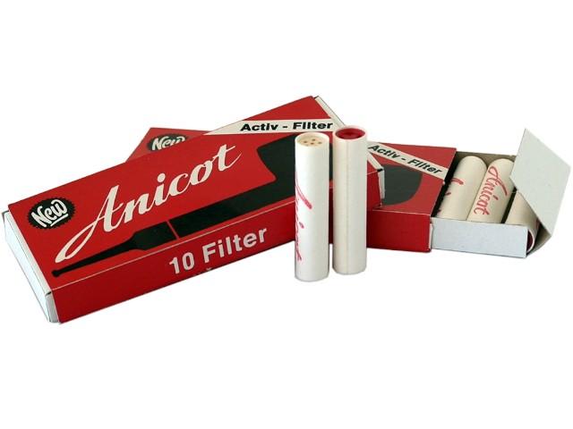 6804 - ANICOT 9mm 10 φίλτρα ενεργού άνθρακα πίπας καπνού