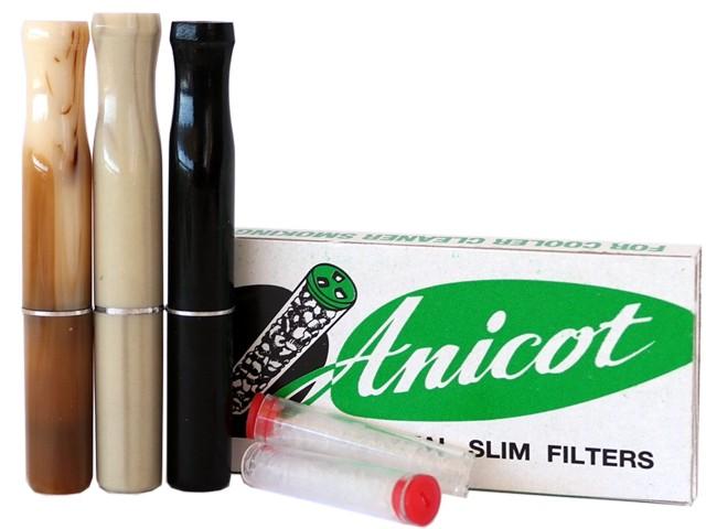 6809 - Πίπα τσιγάρου ANICOT 435 LUXOR SLIM (6mm)