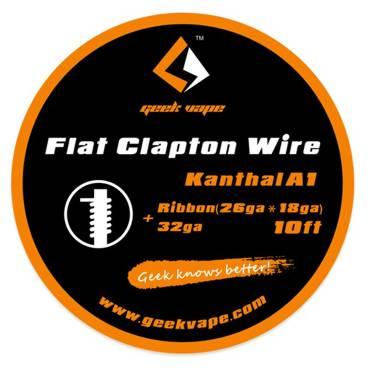 Σύρμα Geek Vape SS Flat Clapton Wire SS316L Ribbon (26ga*18ga) 10ft
