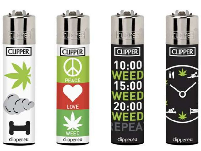 7037 - Clipper CP11RH LOVE AND WEED+LBASA 104352022 Large αναπτήρας