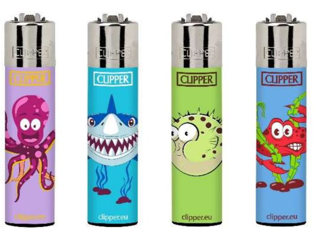 7040 - Clipper CP11RH SEA ANIMALS 3 BI Large αναπτήρας 8412765871689