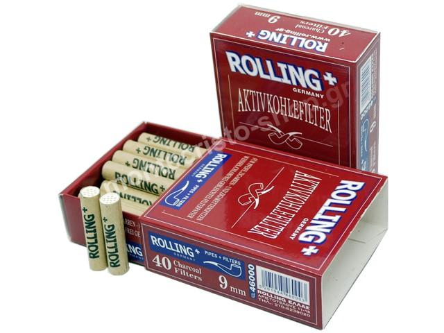 Rolling 46000 9mm 40 φίλτρα ενεργού άνθρακα πίπας καπνού 46000 (Lepekoff)