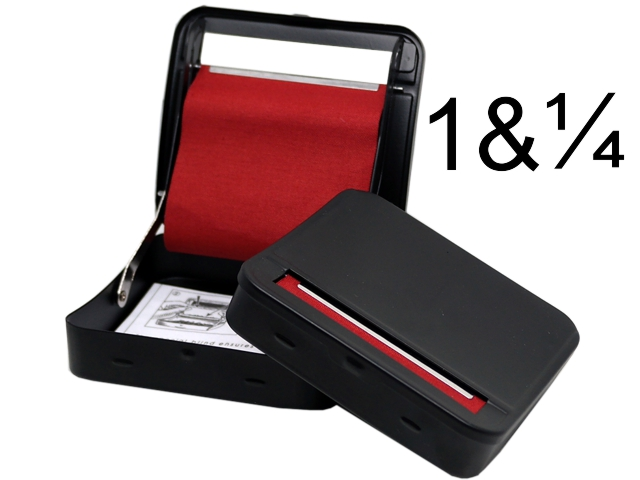 7188 - Μηχανή στριφτού TOBACCO CIGARETTE ROLLING STRONG BOX 79mm BLACK (ταμπακιέρα) 13183