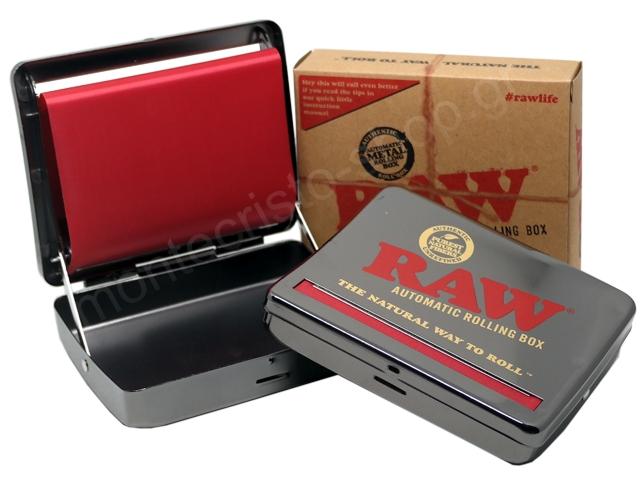7301 - RAW Automatic Rolling Box 110mm (για χαρτάκια στριφτού king size) ταμπακιέρα μηχανή για στριφτό