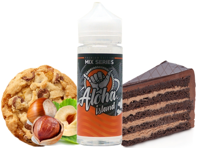 7686 - ALOHA ISLAND TOFFEE BISCUITS 80/120ML (Μπισκότο, κρέμα σοκολάτα και φουντούκι)