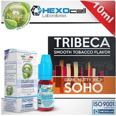 Υγρό αναπλήρωσης Natura TRIBECA & SOHO από την hexocell 10ml (καπνικό)