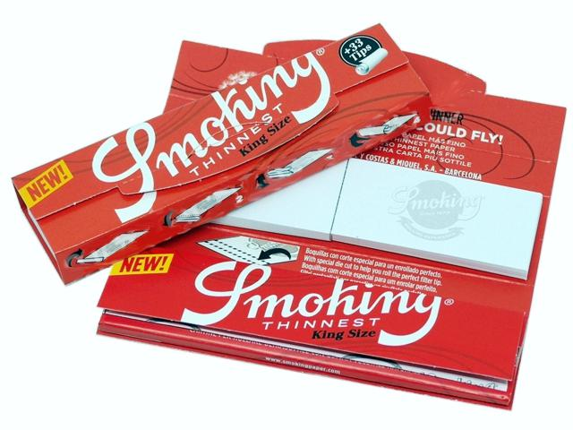 7759 - Χαρτάκια Smoking Thinnest King Size + 33 tips