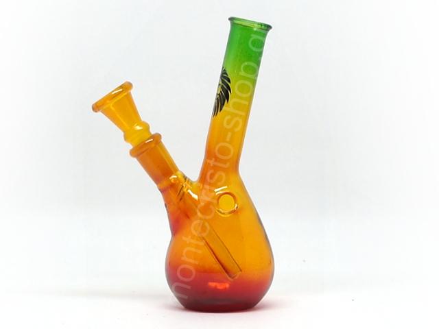 7804 - Γυάλινο Μπονγκ RASTA BEAKER HANGOVER 01174N GLASS BONG 14cm (τρίχρωμο)