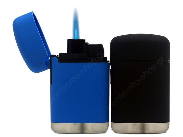 LEON COBBLE JETFLAME LIGHTER BLUE&BLACK 170249