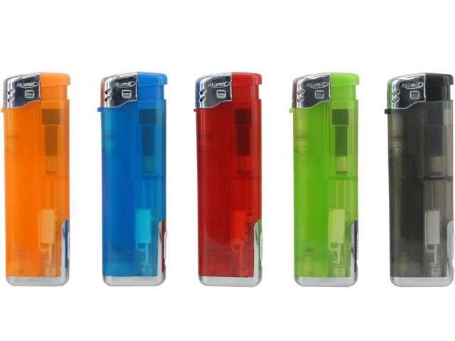 ��������� Atomic Electronic Lighter Light&Fire Softflame Refillable ������������ �� ���� LED