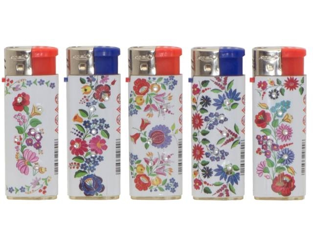 2159 - ��������� �� ��������� Atomic Electronic Lighter Midi Softflame Refillable Flower ������������