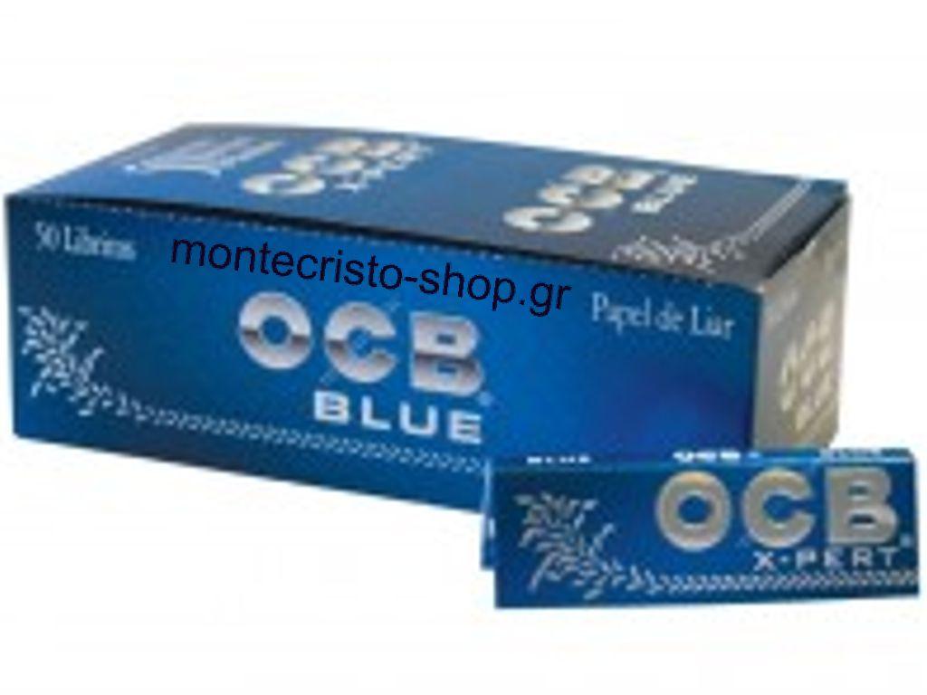 Χαρτάκια OCB XPERT BLUE κουτί 50 τεμαχίων τιμή 0,21 το χαρτάκι