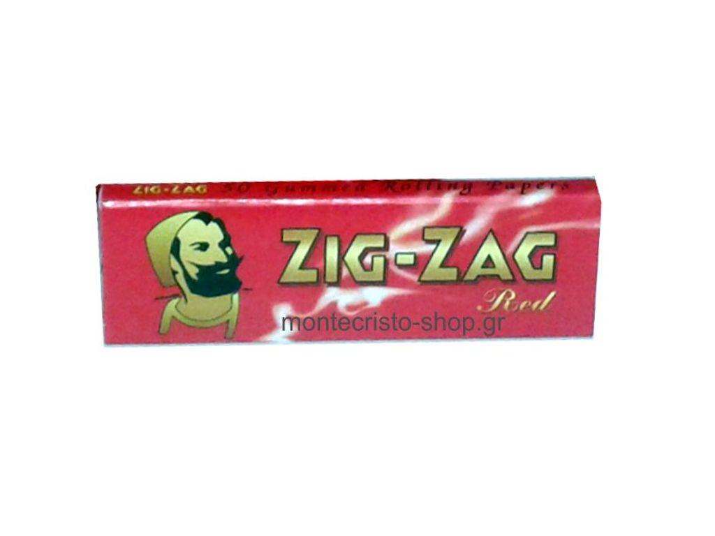 1702 - Χαρτάκια στρφτού ZIG-ZAG κόκκινο red