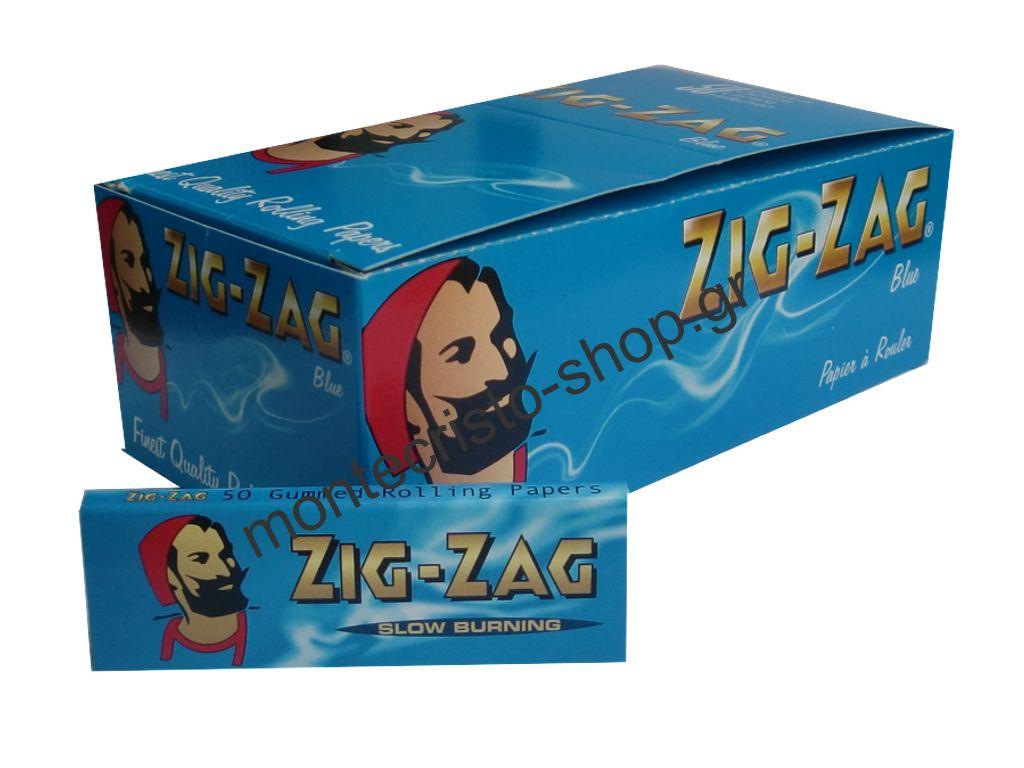 1318 - Χαρτάκια Zig-Zag κουτί 50τεμ ριζόχαρτο 50 φύλλα €0.195 το χαρτάκι