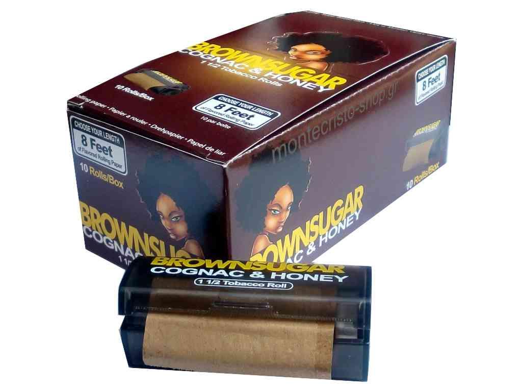 1943 - Κουτί με 10 ρολά BROWNSUGAR COGNAC & HONEY κονιάκ & μέλι 2 μέτρα με τιμή 1.95 το ρολό