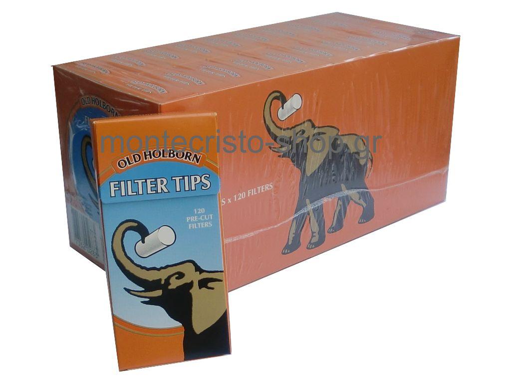 1328 - Κουτί με 20 φιλτράκια Old Holborn 5,7mm 120 filter tips