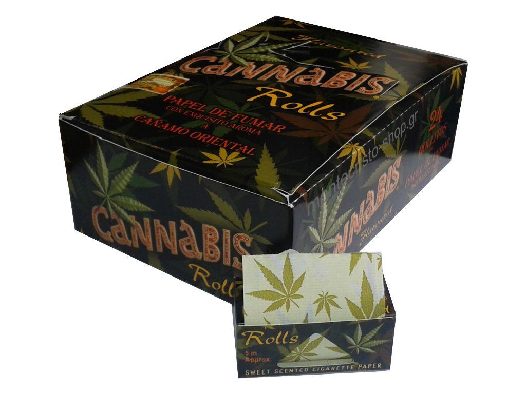 Κουτί με 24 ρολλά CANNABIS 5 μέτρα