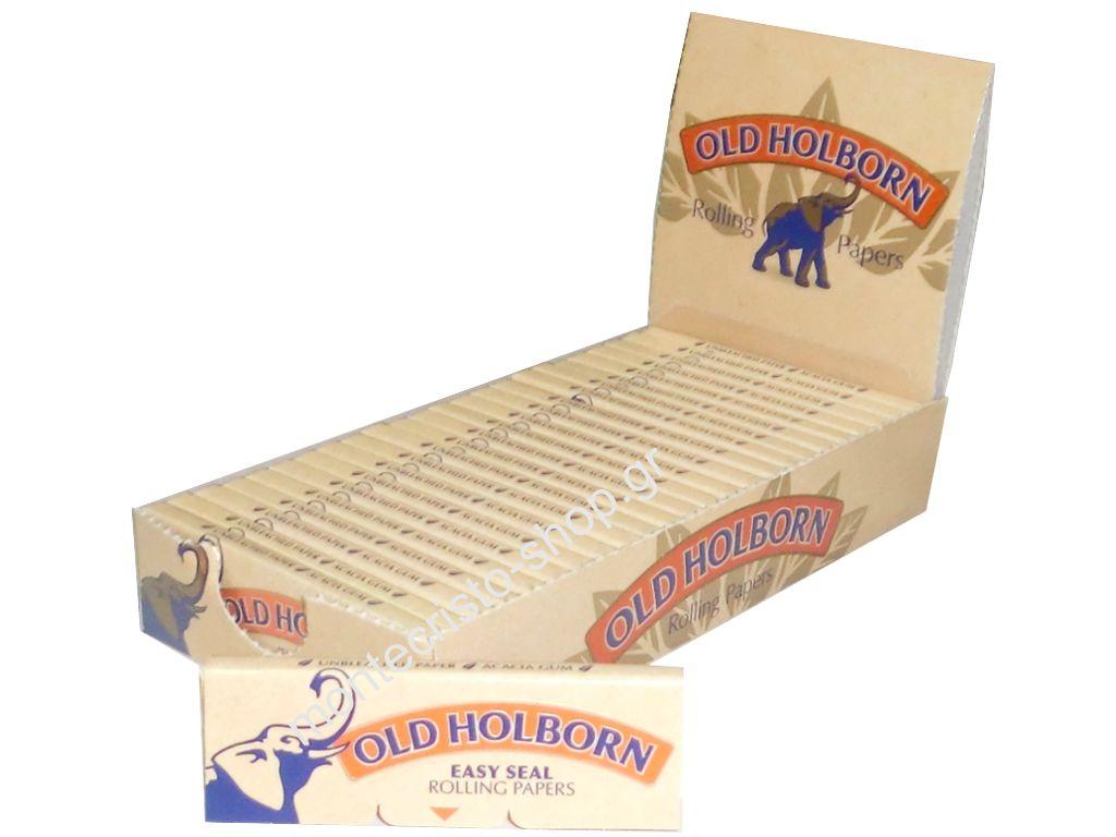 1429 - Κουτί με 25 χαρτάκια Old Holborn ακατέργαστο unbleached 0,134 το τσιγαρόχαρτο