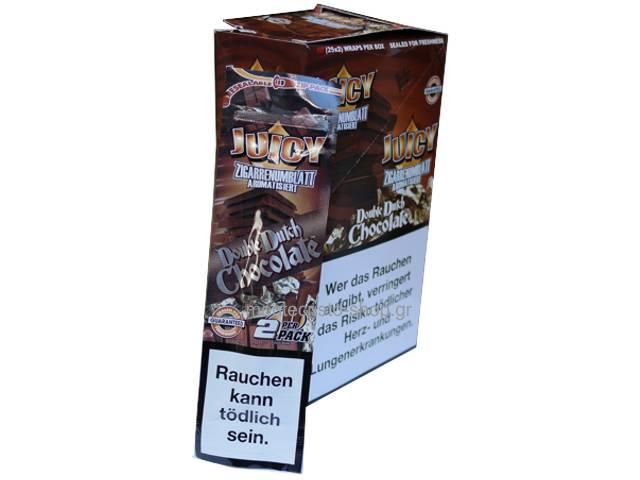 2062 - Κουτί με 25 πουρόφυλλα Juicy Jays BLUNTS DOUBLE DOUTCH CHOCOLATE TUBE