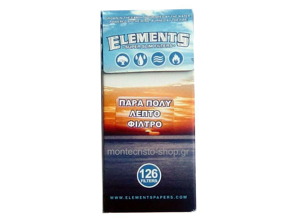 1788 - Φιλτράκια ELEMENTS SUPER SLIM 5.3mm με 126 φίλτρα σε σελοφάν