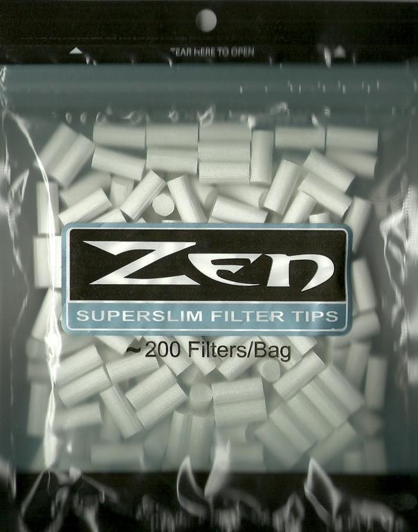 1125 - Φιλτράκια ZEN superslim filter tips 5,8mm, σακουλάκι με 200 φιλτράκια