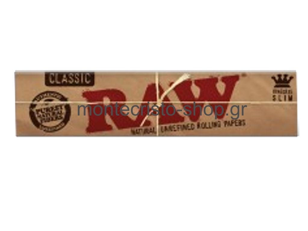 RAW King Size SLIM Classic ακατέργαστο 32 φύλλα