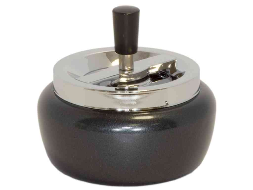 1860 - ������������ ������ CONEY Angela spinning ashtray black body