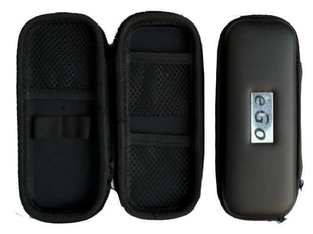 Θήκη με φερμουάρ για ηλεκτρονικό τσιγάρο χρώμα μαύρο