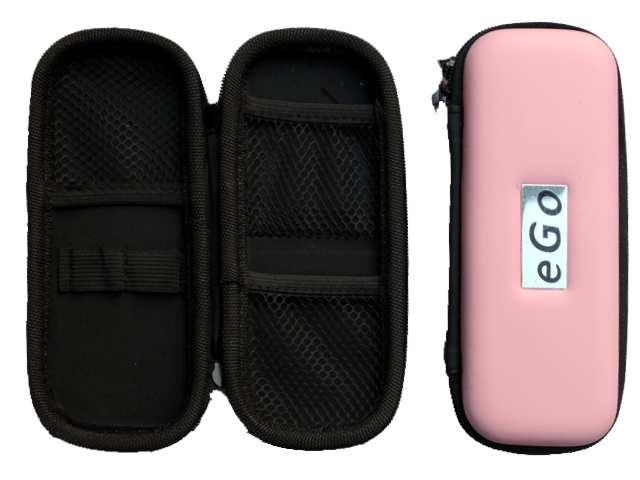 Θήκη με φερμουάρ για ηλεκτρονικό τσιγάρο χρώμα ροζ